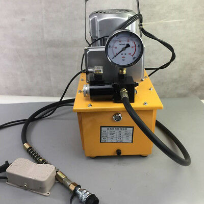Electric Driven Hydraulic Pump 10152 Psi With Pedal Solenoid Valve Control 110v
