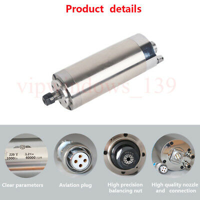 Water-cooled 1.2kw Spindle Motor 60000rpm High Speed Er11 1000hz 220v Cnc Router