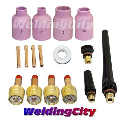 Tig Welding Large Gas Lens Accessory Kit .02018 Torch 171826 T7 Us Seller