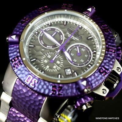 Invicta Subaqua Noma III Hammer Purple Gray Steel Swiss Chrono 50mm Watch New