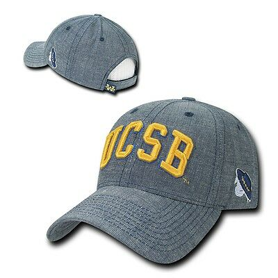 NCAA Ucsb UC Santa Barbara Gruchos Strukturiert Denim Baseballkappen Hut Blau