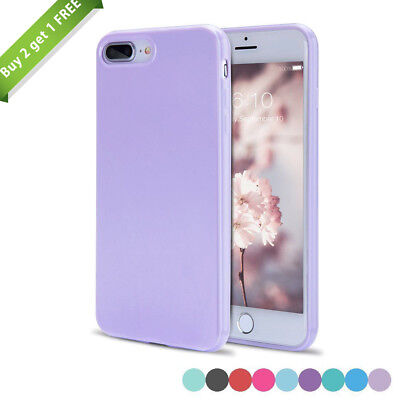 For iPhone 7 Plus 8 Plus X XR XS Max Slim Silicone Rubber Cute Candy Case Cover (Cute Candy)