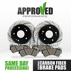 Front-Cross-Drilled-Slotted-Brake-Rotors-Carbon-Fiber-Brake-Pads-K36132