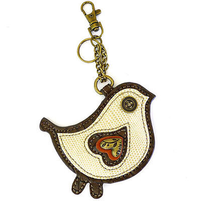 Chala Bird Key Chain Coin Purse Leather Bag Fob Charm