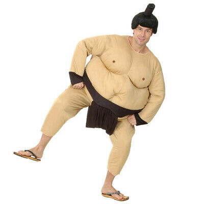 Fat Man Halloween Costume (Sumo Costume Japan Wrestler Fat Man Suit Halloween Costume Blow Up Game Party)