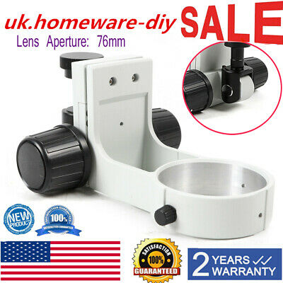 Stereo Microscope Focus Arm Holder 76mm Diae Arm Bracket Holder Ring Adjustment