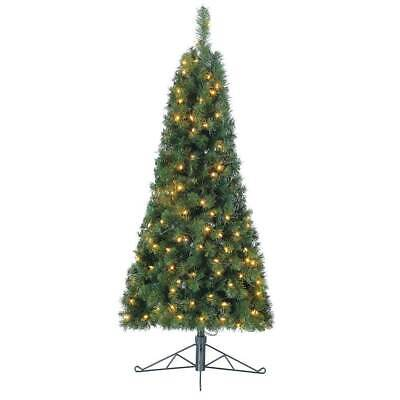 Home Heritage 5-Foot Pre-Lit Tree w/ White LED Lights (Open Box) (2 Pack)