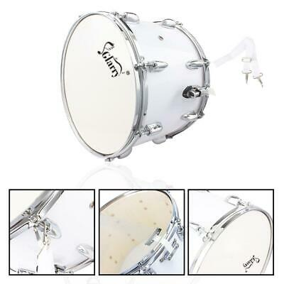 New 14 x10 Inch Marching Snare Drum Drumstick Percussion White