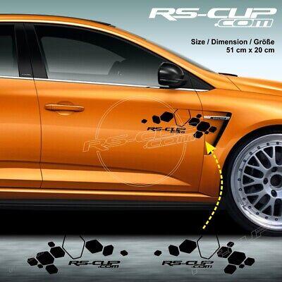 0001 Aufkleber für 4 Tasten Schlüssel RENAULT SPORT CARBON look RS-CUP gelb