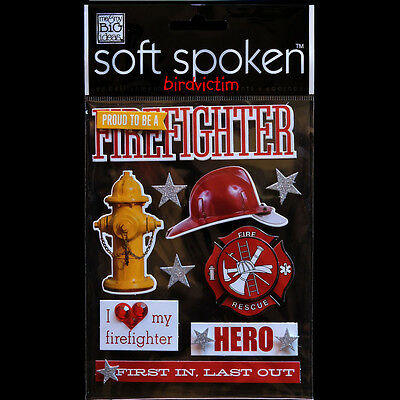 soft spoken STICKERS PACK Proud to be a FIREFIGHTER Hat Hydrant Heart FREE SHIP - Fireman Hat Craft