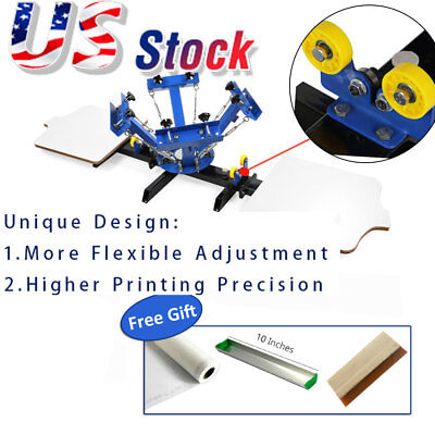 Usa 4 Color 2 Station Silk Screen Printing Machine T-shirt Diy Press Printer