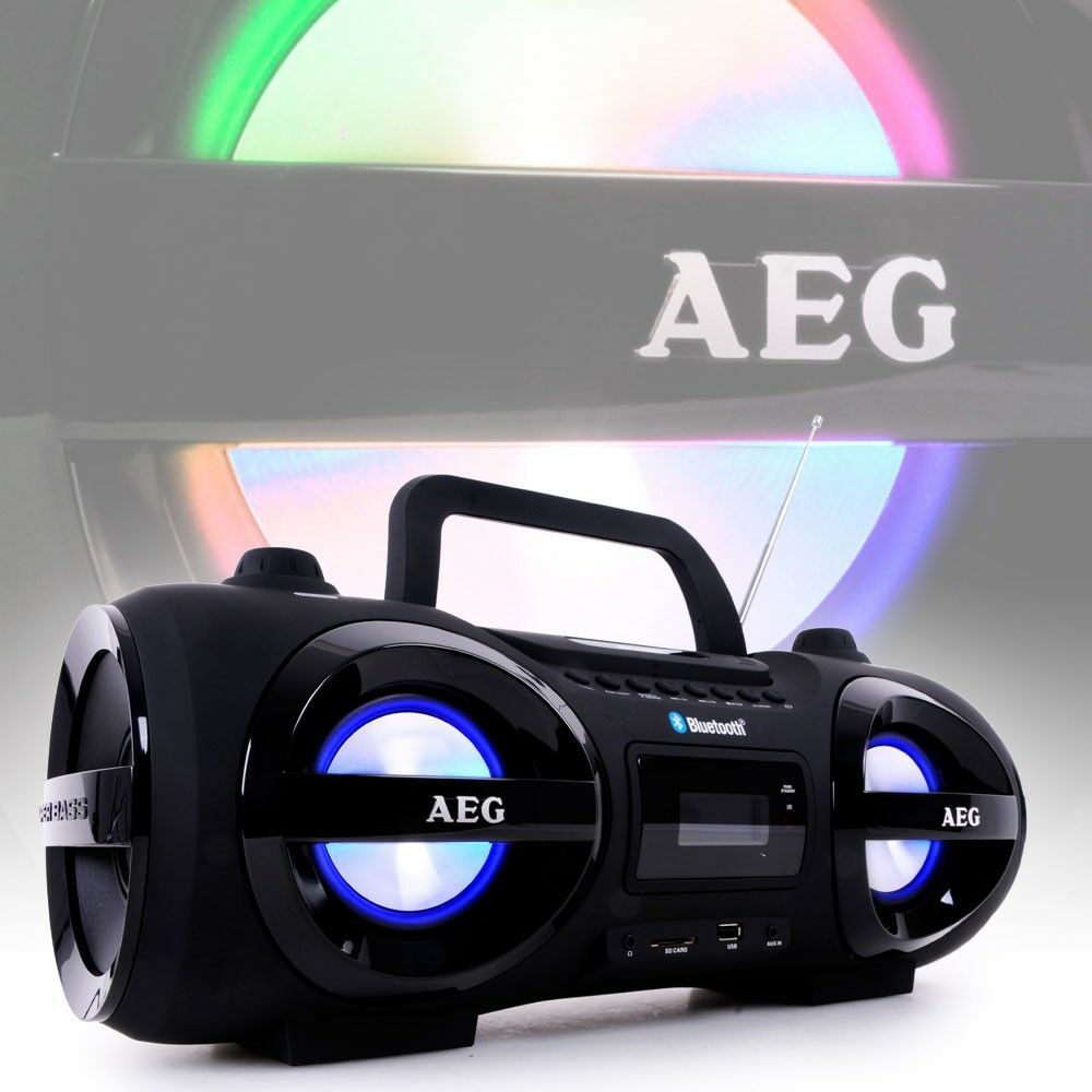 Stereo Radio SOUNDBOX Ghetto Blaster Boombox Cd Mp3 Bluetooth FM AEG SR 4359 BT