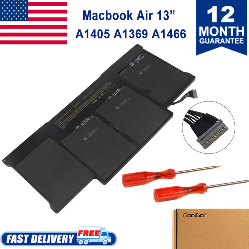 """50Wh Battery for Apple MacBook Air 13"""" A1369 Mid 2011 A1466 2012 A1405"""