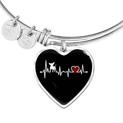 Chihuahua Heartbeat Luxury Bracelet - Great Gift For Mom Mama Grandma Girlfriend