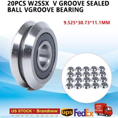20pcs W2ssx V Groove Sealed Ball Vgroove Bearing Cnc Router Linear Guide Bearing