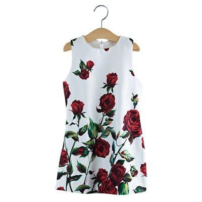 Elegant Mädchen Kleider (STARK REDUZIERT ! Elegant Rose Floral Mädchen Kleider)