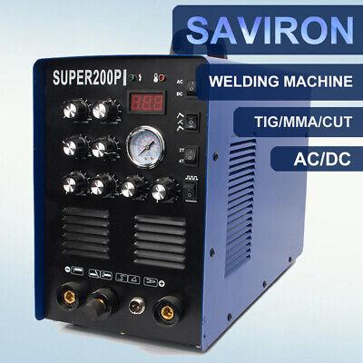 50amp Plasma Cutter 200amp Tig Agron Arc Welder Acdc Aluminum Welding Machine