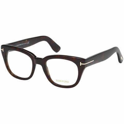 New Authentic Tom Ford Women's Eyeglasses Dark Havana w/Demo Lens FT5473 052