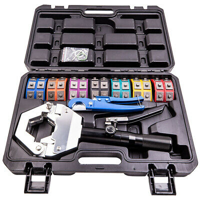 Ac Hydraulic Hose Pipe Crimper Air Conditioning Crimping Hand Tools Die Kit