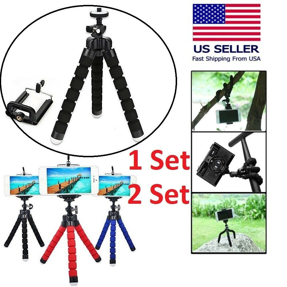 Tripod Stand Mount Flexible Mini Octopus Wraps For Gopro Camera iPhone Samsung