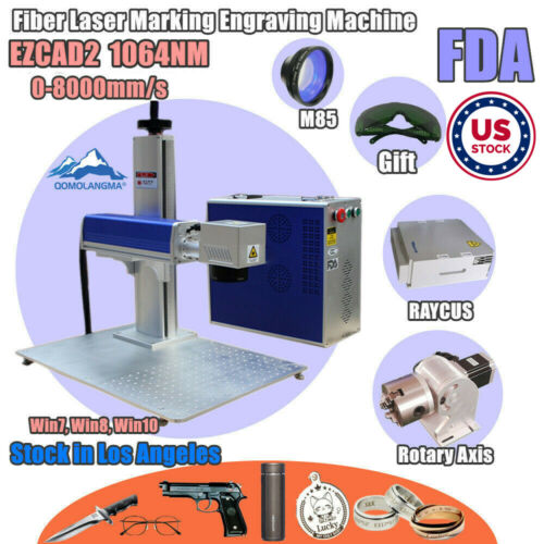 USA 20/30/50W Split Fiber Laser Marking with Rotary Axis & Raycus Laser & Ezcad2