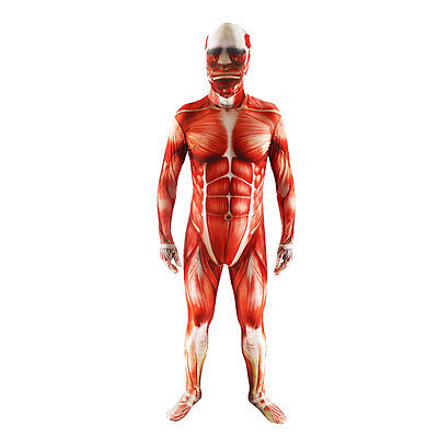 Cosplay Men (Attack On Titan Cosplay Costume Men Muscle Muscular Bodysuit Halloween)