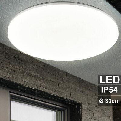 LED Exterior Cubrir Luz Jardín Balcón Lámpara Terraza Iluminación Redondo Plata