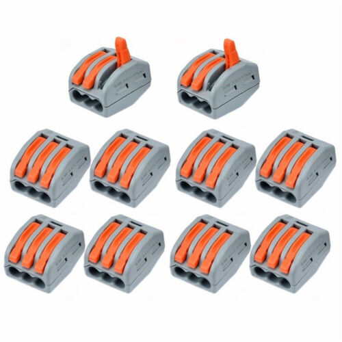 60x Reusable Terminal Block Lever Home Connector Wire 2/3/5 Pole Cable Clamp Nut - $17.79