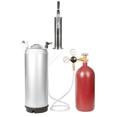 Stout Beer Keg Kit -nitrogen Tank 5 Gal Ball Lock Stout Tap Tower -ships Free