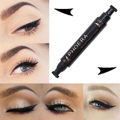 Liquid Winged Eyeliner Vamp Stamp Pen Waterproof Makeup Eye Liner Pencil Black