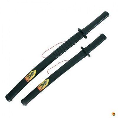 Ninja Schwerter 2 tlg. Set Kampfschwert Kostüm Zubehör Japaner