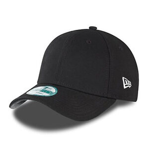 c38d35af3eb NEW ERA MENS 9FORTY BASEBALL CAP.GENUINE BASIC BLACK CURVED PEAK ADJUSTABLE  HAT