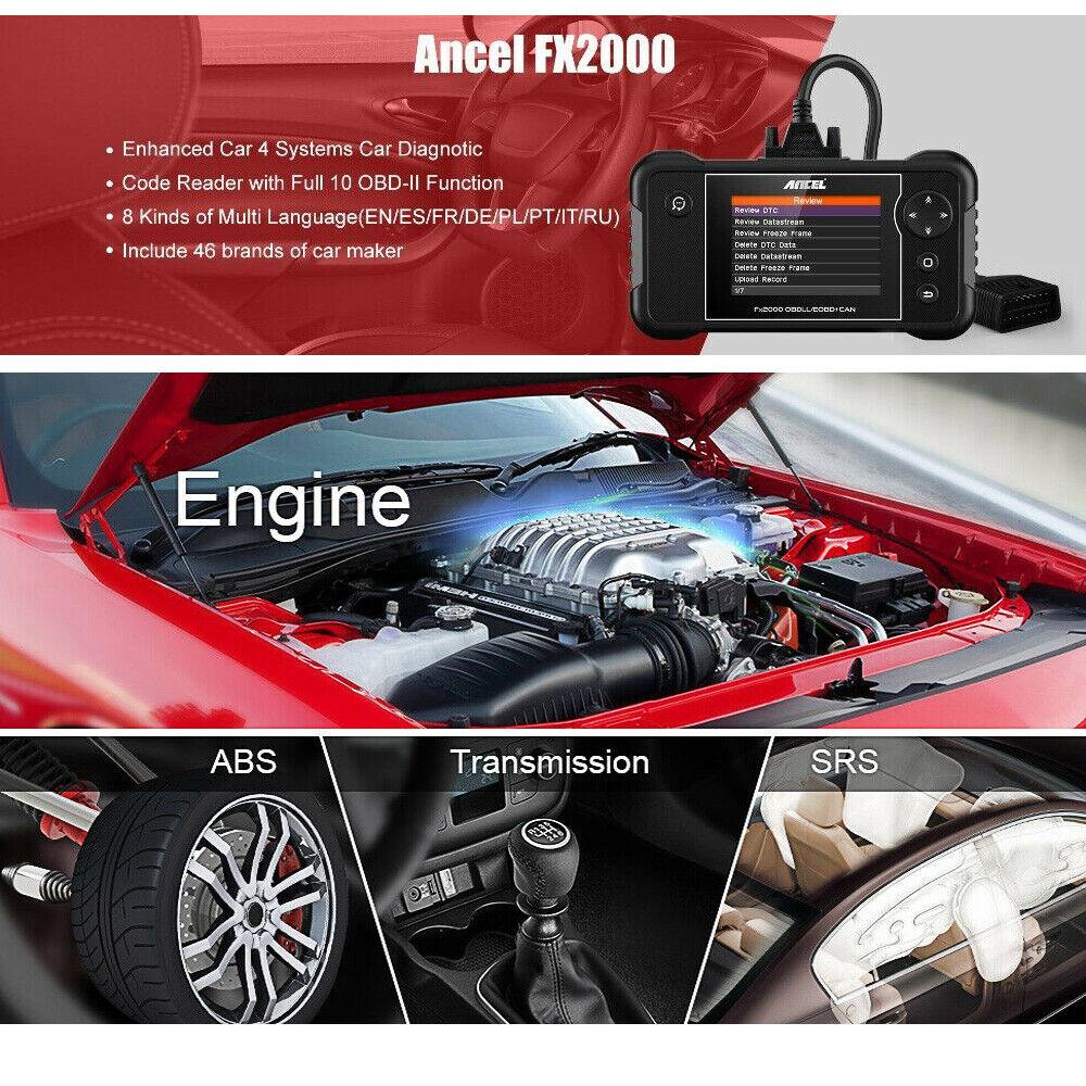 Details about Check Engine Transmission ABS SRS Airbag Code Reader OBD2  Scanner Diagnostic