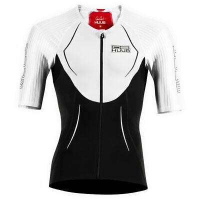 HUUB DS Long Course Triathlon Top Mens Swimming Triathlon Red White Size XS-XXL