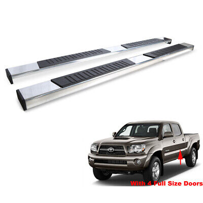 78in Bars - 78in Running Boards For 05-19 Tacoma Double/Crew Cab Side Step Nerf Bars 2pcs