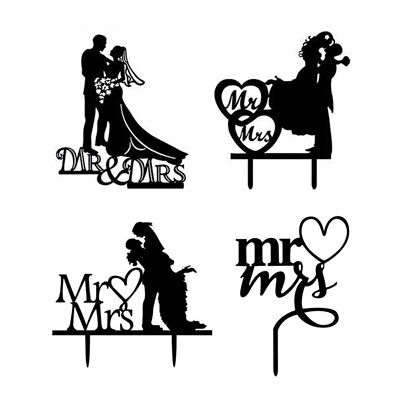 Bride Groom Wedding Cake Topper Wedding Party Decor Mr.&Mrs. Cake Topper Top
