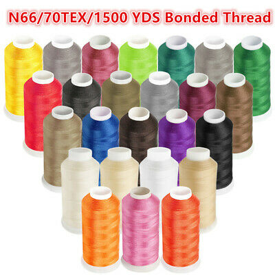 1500YD Nylon Sewing Bonded Thread #69 N66 T70 for Upholstery Leather -