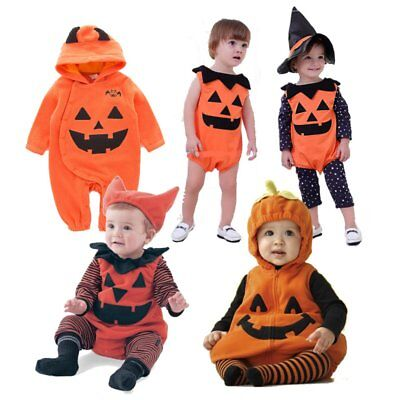 Baby Boy Girl Carnival Pumpkin Costumes Fancy Dress Party Outfit Cloth Cosplay (Infant Pumpkin Halloween Costumes)