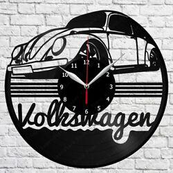 Volkswagen Retro Car Vinyl Record Wall Clock Home Fan Art Decor 12'' 30 cm 5979