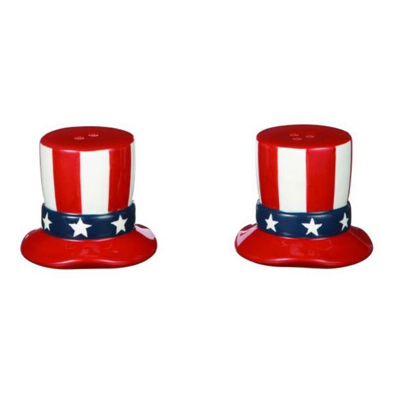 Americana Uncle Sam Hat Salt & Pepper Shaker Set by Ganz ER18171