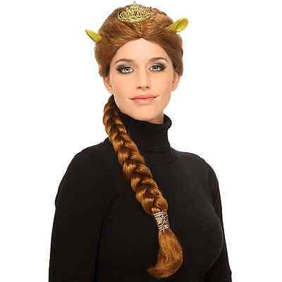 PRINCESS FIONA WIG RED W/ TIARA & GREEN EARS SHREK MOVIE HALLOWEEN COSTUME SET (Halloween Costumes Shrek)