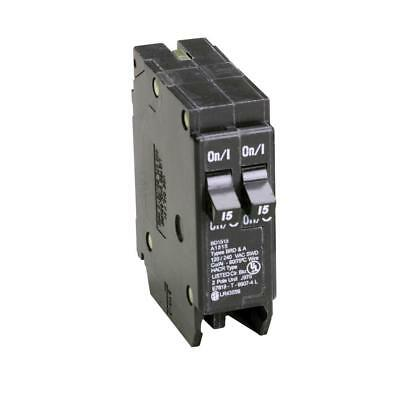 Challenger Type A A1515 2 Pole Twin Tandem 15 Amp Circuit Breaker.
