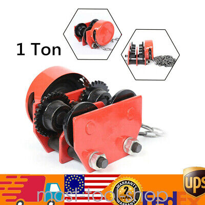 Gcl-1 Beam Push 1 Ton Trolley Hoist Chain Hoist Winch Crane Lift W Four Wheels