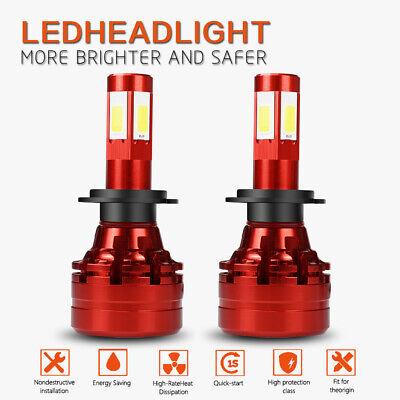 H7 LED Headlights Bulbs 13200LM Kits High Beam 6500K White Lamp Plug And (Best Electric Bike Kit 2019)