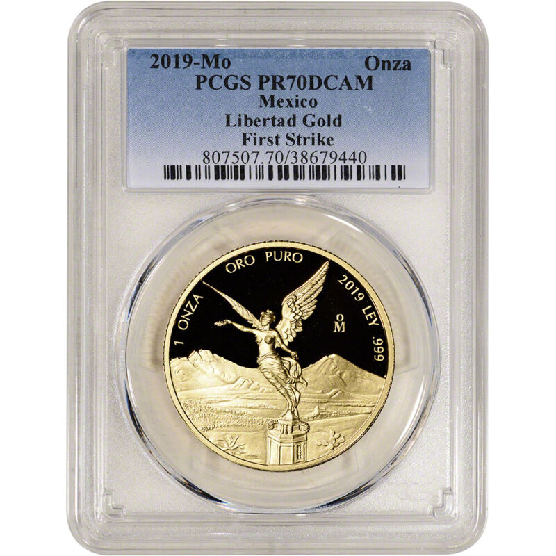 2019 Mo Mexico Gold Libertad Proof 1 oz 1 Onza - PCGS PR70 DCAM First Strike