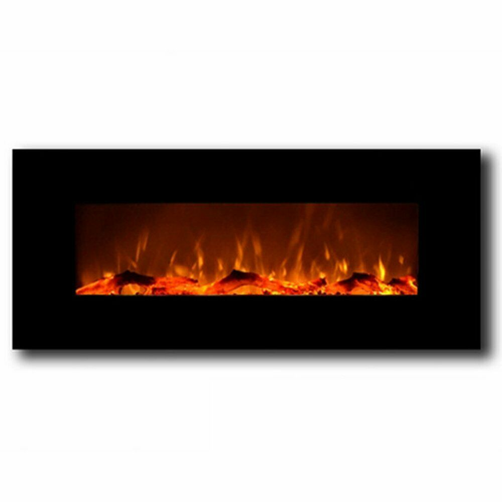 "Regal Flame Ashford Black 50"" Log Ventless Heater Electric W"