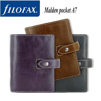 Filofax A5personalpocket Malden Diary Planner Leather Notebook Organiser B9
