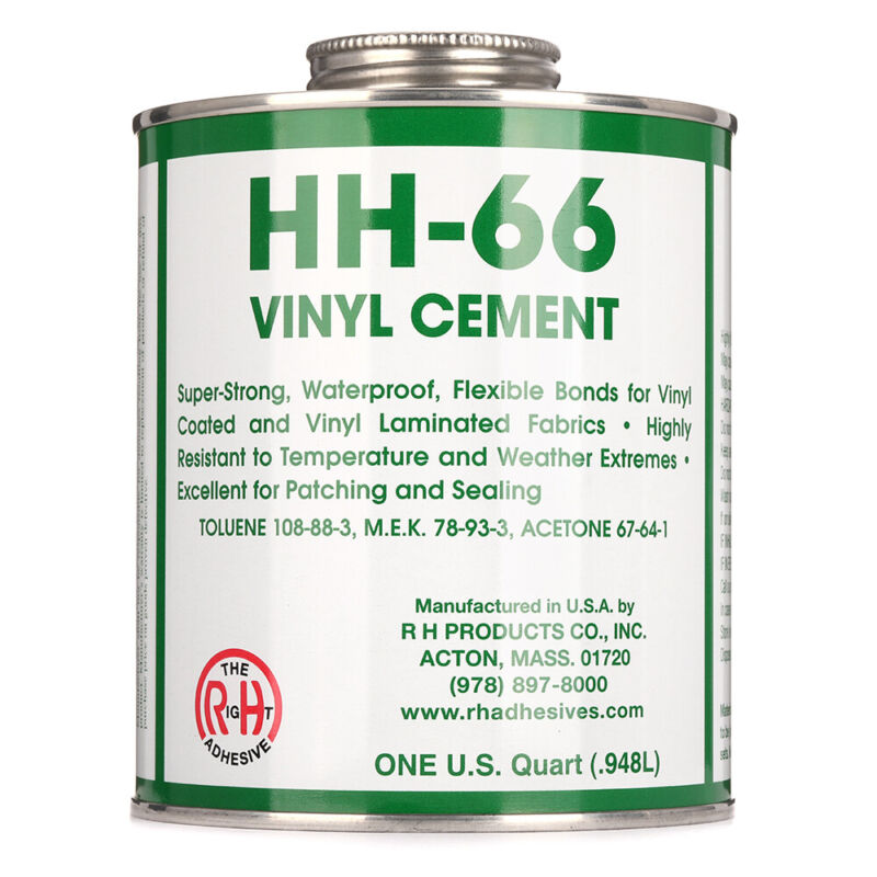 RH Adhesives Industrial Strength HH-66 Vinyl Cement Glue w/ Brush, 32 oz, Clear