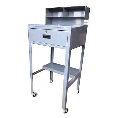 Grainger Approved Steel Open Shop Desk51 Hgray 453f24 Gray