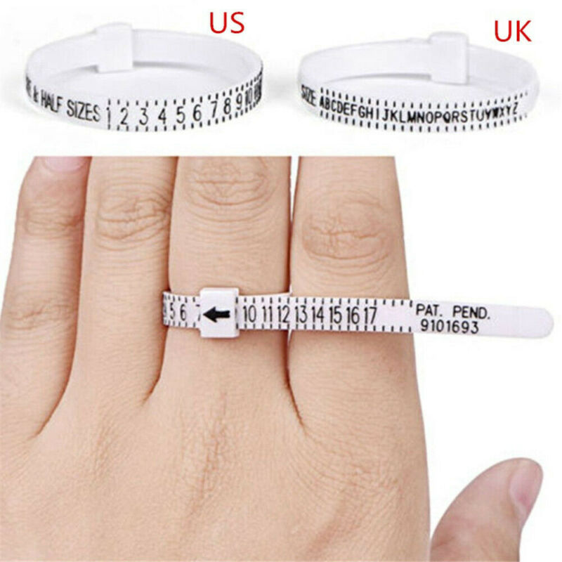 Useful Optional Standard Metal Finger Ring Gauge Sizer Jewelry Making Size Measuring Tools Measure Gauge